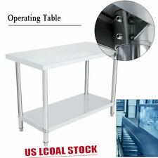 4x2Ft Stainless Operating Platform Work Bench Table Kitchen Desk Work Station Us
