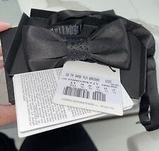 New La Perla Womens Jeweled bow tie....garter belt...hair...sexy lingerie w box