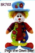"SKANSEN  BEANIE KID ""POGO"" THE CLOWN BEAR  MINT WITH MINT TAG"