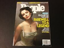 Elizabeth Taylor 2011 People Magazine Mag Newstand Edition Great Condition