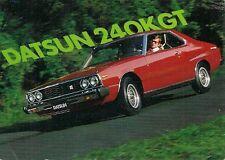 Datsun Nissan Skyline 240K GT Coupe 1979 UK Market Sales Postcard
