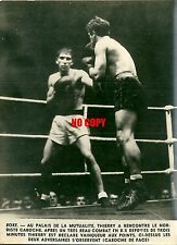 Photo de presse Boxe 1947 boxeur Germain Caboche Louis Thierry la Mutualité