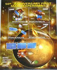 Kinyarwanda Ruanda 2012 50th Ann 1st Mars esperimento Space Satellites spaziale MNH
