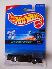 Hot Wheels 1996 Issue Custom Corvette Black Spy Print Series 4/4