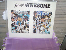 AWESOME NEW YORK YANKEES BASEBALL CHAMPS 1996 & 1998 PICTURE IN HEAVY PLASTIC