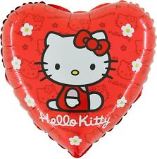 18 Inch Hello Kitty Red Heart Shaped Foil Balloon (CR3)