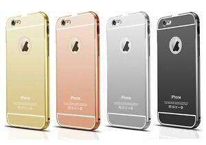 Aluminium Hülle für iPhone 6 s Plus  Metall Bumper Chrom Cover Handy Schutz Case