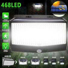 New listing 468 Led Pir Motion Sensor Wall Lights Solar Power Waterproof Outdoor Garden Lamp