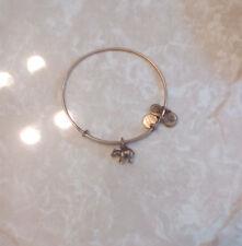 Alex & Ani Bear Animal Shiny Yellow Charm Bangle Bracelet Rare HTF