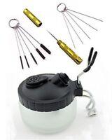 ABEST 4 SET Airbrush Spray Gun Wash Cleaning Tools Needle Nozzle Brush Glass