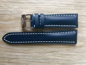 New Current Model Breitling 101X 24mm Blue Calf Leather Watch Strap & Buckle