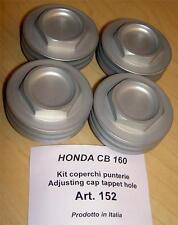 Honda CB160 175 200 125 Cappellini set/4 rocker valve cover inspection caps  152