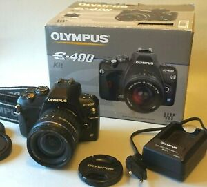 Olympus E 400 Digital SLR Camera kit with 14-42mm Lens, box