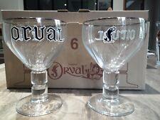 6 verres à bière ORVAL 33 cl