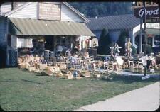 Roadside Smoky Mountains Souvenir Craft Basket Shop Vintage 1950s Slide Photo
