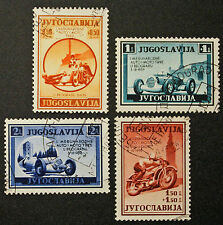 Timbre YOUGOSLAVIE / YUGOSLAVIA Stamp - Yvert Tellier n°349 à 352 obl (cyn21)