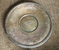 Reed & Barton silver plated tray trophy award. 1956 Yacht Club 5th Place