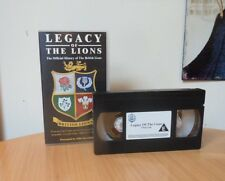 VHS VIDEO-THE LEGACY OF THE LIONS-OFFICIAL HISTORY OF BRITISH LIONS