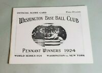1924 World Series Program Opie Reprint Washington Senators vs. NY Giant 578/1000