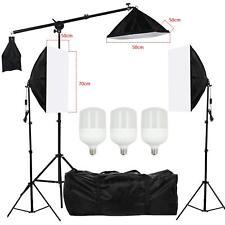 3 Softbox Studioleuchte LED Studio Beleuchtung Set Lampe Galgenstativ Fotostudio