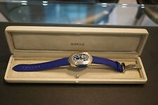 Marcus Gents Quartz Wristwatch with Blue Dial on Blue Leather Strap