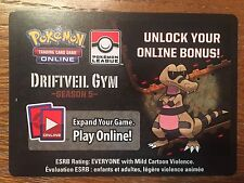 Rare Pokemon TCG Online Driftveil Gym - Season 5 Code Card