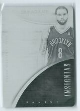 2013-14 Immaculate Deron Williams BLACK PRINTING PLATE TRUE 1/1 NETS