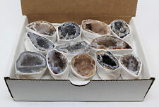 Bulk LARGE Oco Agate Geodes (10-15 Lot Box) Natural Crystal Druzy Halves