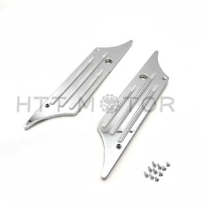 Chrome Deeply Cut CNC Billet Hard Bag Latch Cover For Harley Touring 93-13