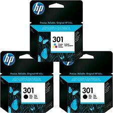 Genuine Original 2x HP 301 Black + 1x Colour Ink Cartridge Deskjet 2540 Inkjets