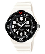 Casio Men's Sports Style Watch With Black Display, White Resin MRW-200HC-7BV