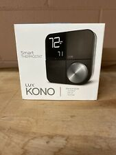 Lux Kono Smart Wi-Fi Thermostat with Interchangeable Black Stainless Steel NEW