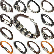 Leather Stainless Steel Unbranded Jewellery for Men