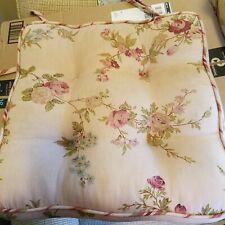 Waverly Chair seat cushion Briar Rose/ taupe 16x16