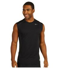 Nike Pro Black Combat Dri-Fit Mens Sleeveless Training Shirt Size Medium