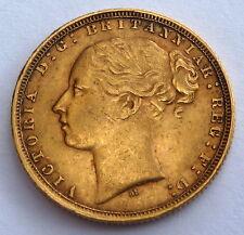 GREAT BRITAIN QUEEN VICTORIA GOLD SOVEREIGN 1873  7.99 gr. 0.2354 oz. 0.917 gold