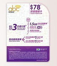 abc Mobile- $78旅遊儲值卡