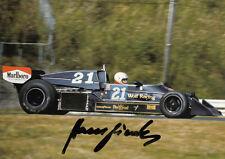 Hans Binder (Aut) Formula Uno 1976 WOLF RACING ORIGINALE FIRMATO/SIGNED!!!