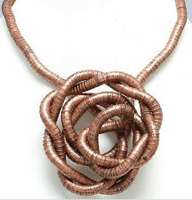 5mm 90cm Ancient Copper Plated Iron Flexible Bendy Snake Bendable Necklace,6pcs