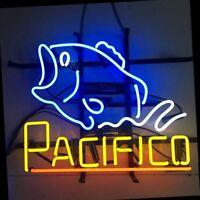 "17""x14""Pacifico Fish Neon Sign Light Restaurant Wall Hanging Handcraft Artwork"