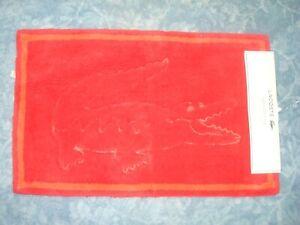 "LACOSTE LEGEND RED FLOOR/BATH MAT/RUG 20"" x 32"" OR 50.8 CM x 81.3 CM"