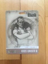 Star Wars Celebration Orlando 2017 Exclusive Rebels Thrawn Kids Under 6 Badge