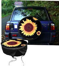 Garten Sonneblume  Auto SUV Jeep Suzuki Jimny u.Andere Caravan Reserverad Bezug