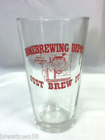 Novelty drink glass drinking glasses 1 bar Home Brewing Depot Just Brew It FD2