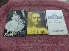 Vintage Russian Ballet Programs And Ticket 1976