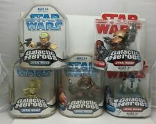 5 Star Wars Galactic Heroes New in Pack Figures Disney Hasbro 2009 Chewbacca Han
