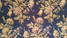 "Waverly Foley Lane midnight blue floral cotton Jacquard woven 55"" 24yds BTY"