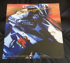 2001 Suzuki Supersport GSX-R1000 GSX-R750 Motorcycle Dealer Brochure GSX-R600