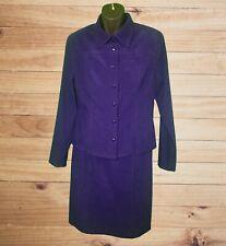 Liz Claiborne Petite Sleeveless Purple Dress & Jacket Set! Sueded Feel. Size 12P