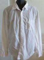 Mens American Eagle White Button Down Long Sleeve Shirt Size XL